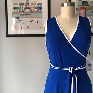 Calvin Klein • Fluid Wrap Dress